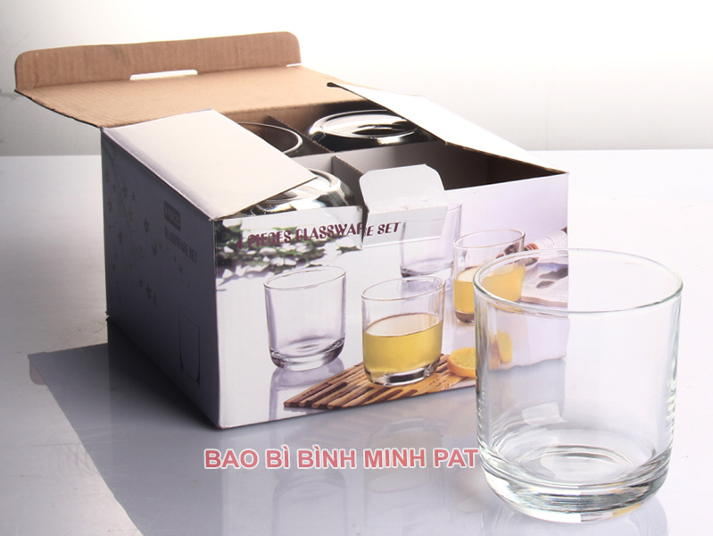 In hộp giấy đựng ly, tách thủy tinh giá rẻ - hinh 2